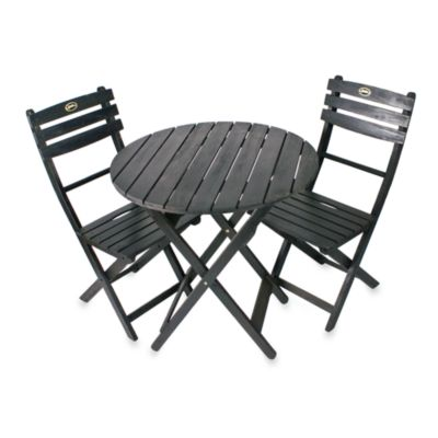 3-Piece Black Bistro Set