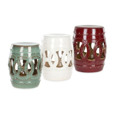Safavieh Ceramic Double Coin Stools