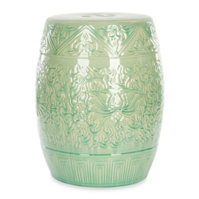 Safavieh Lotus Garden Stool in White