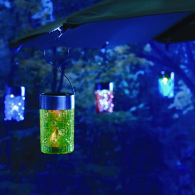 Solar Umbrella Clip Light in Blue