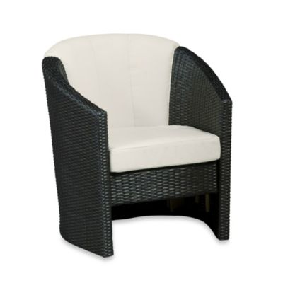 Home Styles Riviera Barrel Accent Chair in Stone