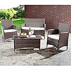 Safavieh Mojavi 4-Piece Wicker Patio Set