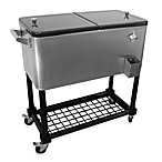 80-Quart Stainless Steel Cooler with Tray