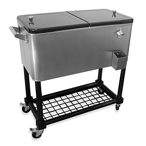 Buy 80 Quart Stainless Steel Cooler With Tray From Bed