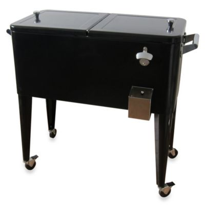 80-Quart Steel Cooler in Black