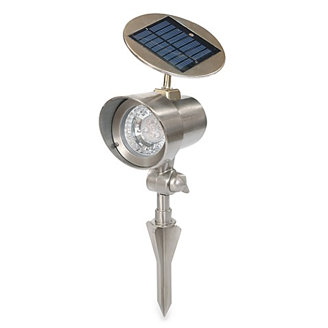 Solar Floodlight in Pewter