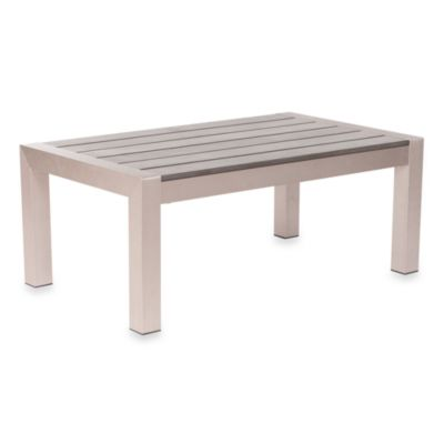 Zuo® Outdoor Brushed Aluminum Cosmopolitan Coffee Table