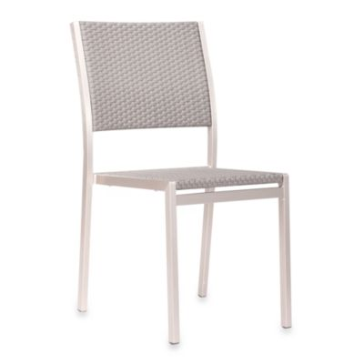 Zuo® Outdoor Metropolitan Brushed Aluminum Dining Chairs (Set of 2)