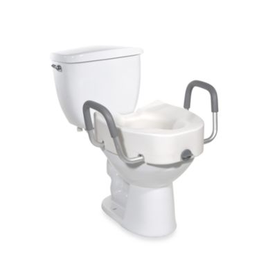 Drive Medical Raised 4.5-Inch Toilet Seat with Removable Padded Arms