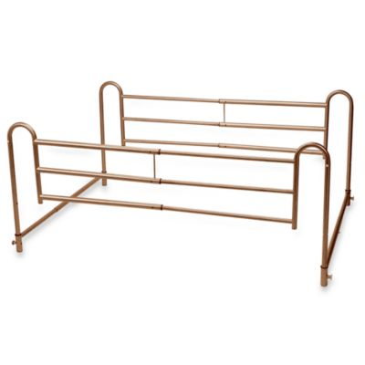 Drive Medical Steel Brown and Black Adjustable Bed Rail