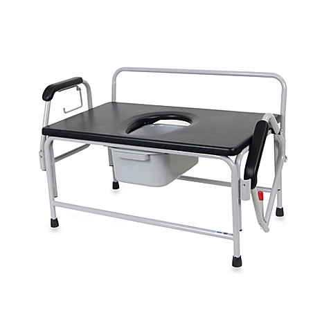 Drive Medical Heavy Duty Bariatric Drop Arm Commode