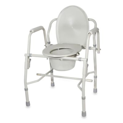Drive Medical Steel Multiuse Commode with Padded Arms