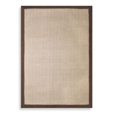 Prescott Basketweave Chenille Border 8-Foot x 10-Foot Rug in Harvest/Chocolate