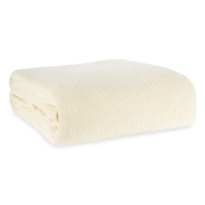Berkshire Blanket® Comfy Soft Full/Queen Cotton Blanket in Natural