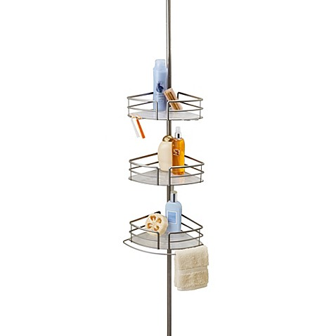 Colossal 3-Tier Pole Caddy With Adjustable Shelves