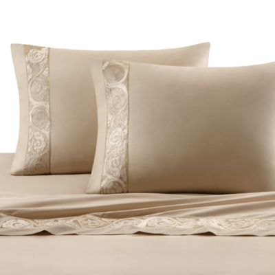 Natori Gobi Palace King Flat Sheet in Ivory
