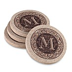 Monogram Coasters and Coaster Holders