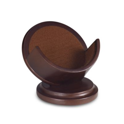Cherry Pedestal Coaster Holder