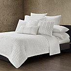 Natori Ming Fretwork White Quilted Coverlet, 100% Cotton