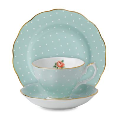 Royal Albert 3-Piece Set in Polka Dot Rose