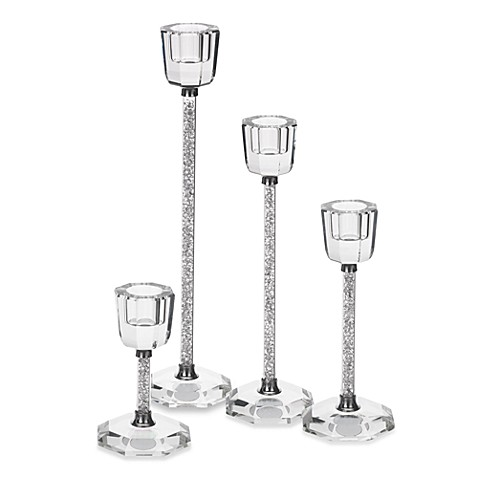 Crystal Diamond Candleholder Set of 2