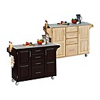 Home Styles Create-a-Cart Wood Kitchen Cart with Granite Top