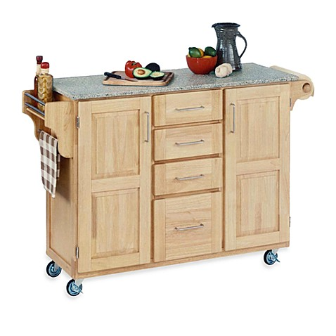 Home Styles Create-a-Cart Wood Kitchen Cart with Granite Top in Natural