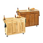 Home Styles Create-a-Cart Wood Kitchen Cart with Wood Top