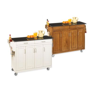 Home Styles Create-a-Cart Wood Kitchen Cart w/ Black Granite Top