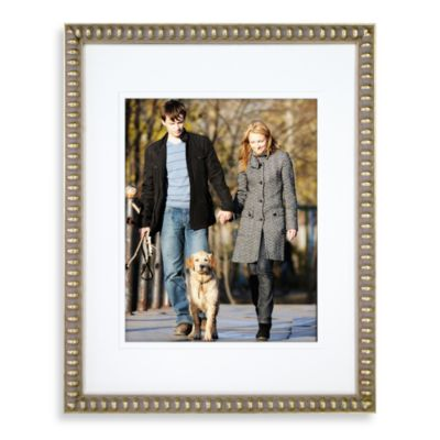 Thin Bead 16-Inch x 20-Inch Wall Frame in Gold