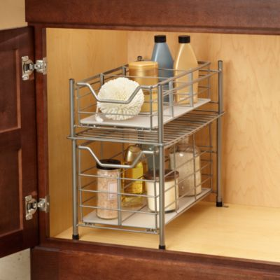 Deluxe Bathroom Cabinet Drawer - Large Matte Nickel