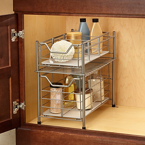 Hair dryer caddy bathroom organizer