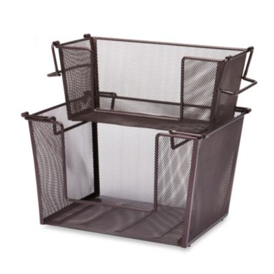 Mesh Stacking Basket in Oil-Rubbed Bronze