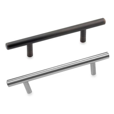 Richelieu 96mm Bar Cabinet Drawer Hardware in Brushed Nickel