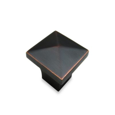 Richelieu Square Pyramid Knob in Oil Rubbed Bronze