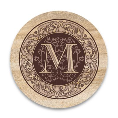 "Monogram Letter ""M"" Coasters (Set of 4)"