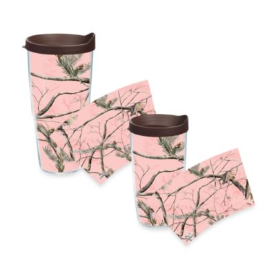 Tervis Wrap Tumblers with Pink Lid