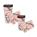 Tervis® Pink Real Tree Wrap Tumblers with Brown Lid