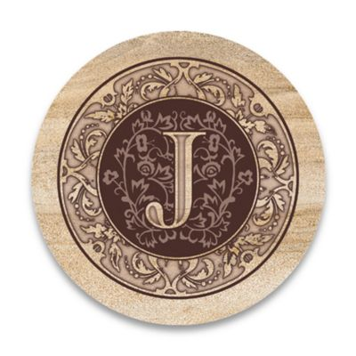 "Monogram Letter ""J"" Coasters (Set of 4)"