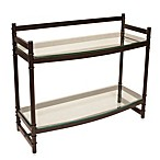 Napa Two-Tier Bronze and Glass Bathroom Wall Shelf