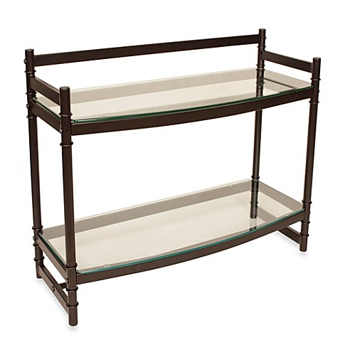 Buy Napa Two Tier Bronze And Glass Bathroom Wall Shelf