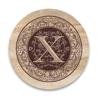 "Monogram Letter ""X"" Coasters (Set of 4)"