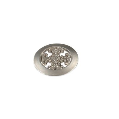 Richelieu Fleur De Lis Knob in Satin Nickel