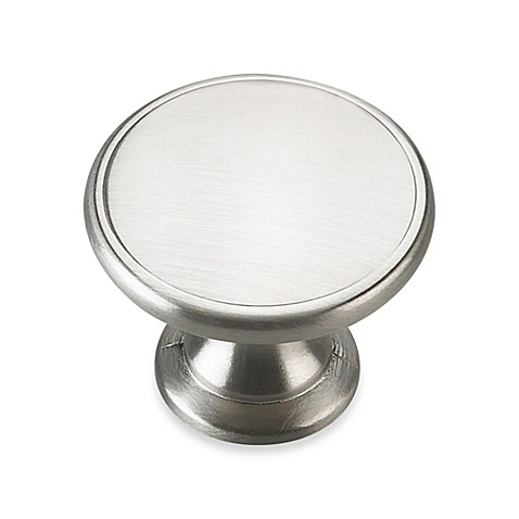 Buy richelieu reflection knob in brushed nickel from bed for Bathroom knobs brushed nickel