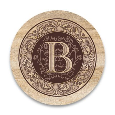 "Monogram Letter ""B"" Coasters (Set of 4)"