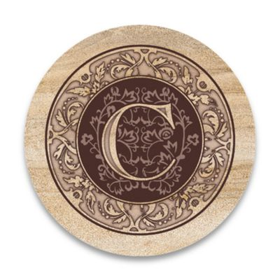 "Monogram Letter ""C"" Coasters (Set of 4)"