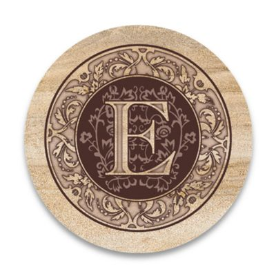 "Monogram Letter ""E"" Coasters (Set of 4)"