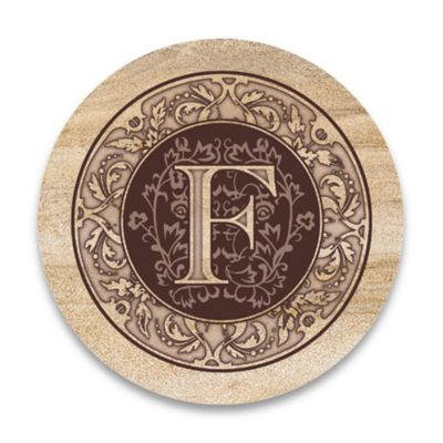 "Monogram Letter ""F"" Coasters (Set of 4)"