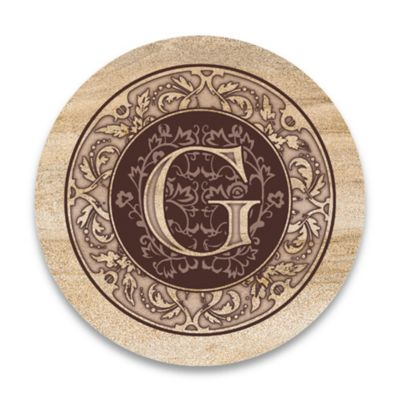 "Monogram Letter ""G"" Coasters (Set of 4)"