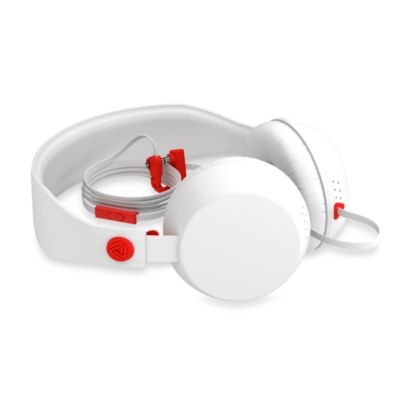 Coloud The Boom Headphones in White/Red